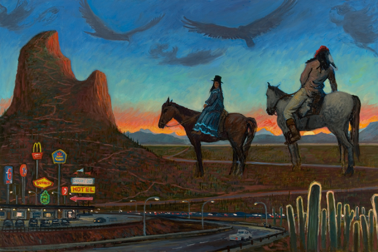 """Apache Sunset""  36 x 52"" (sold)"