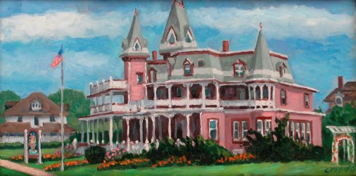 """Cape May Hotel""  10 x 24"" (sold)"