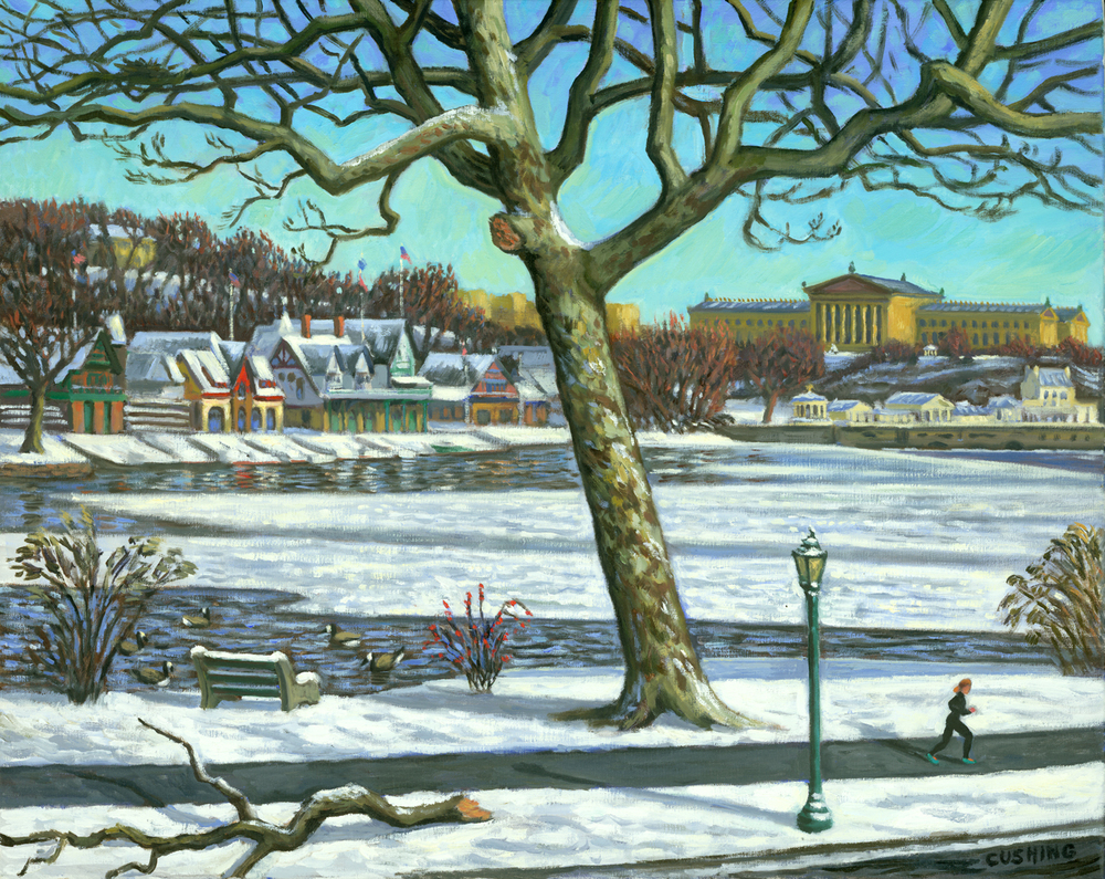 """Winter Jogger""  20 x 30"" (sold)"