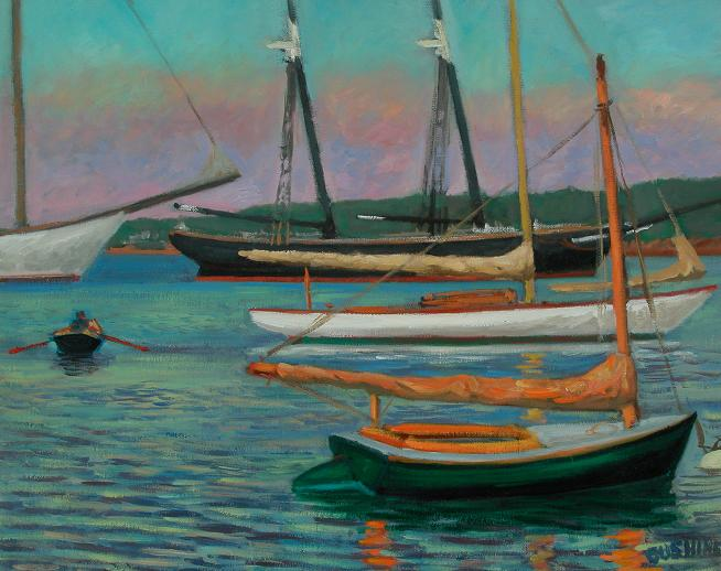 """The 'Shenandoah' and Other Boats, Martha's Vineyard"" 16 x 20"" (sold)"