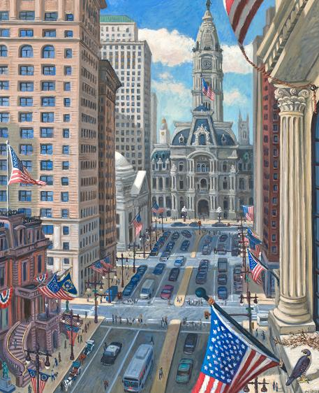 """Flags on South Broad Street""  60 x 36"" (sold)"