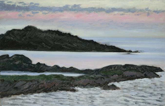 """Coastline Near Keels, Newfoundland""  18 x 24""  (sold)"