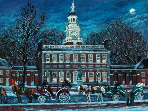 """Independence Hall""  18 x 24"" (sold)"