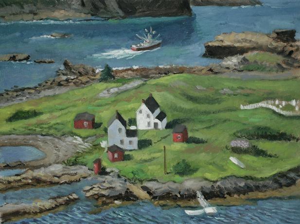 """Salvage, Newfoundland""  18 x 24""  (sold)"