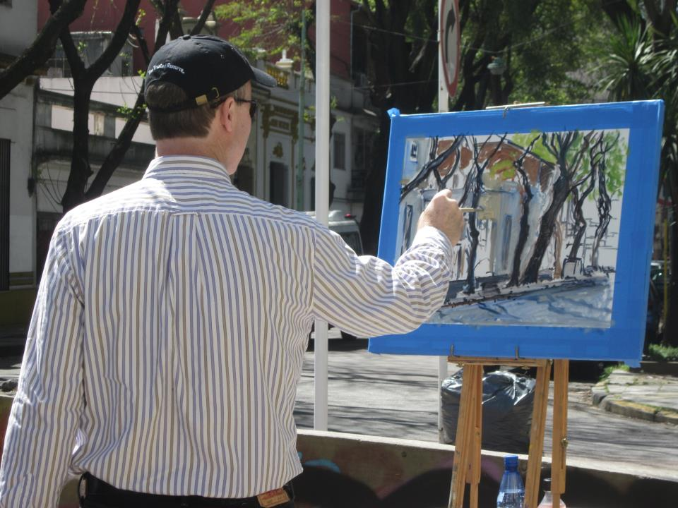 painting on Calle Jorge Newberry, in Colegiales, Buenos Aires, 2012 (photo by Lesley Mitchell)