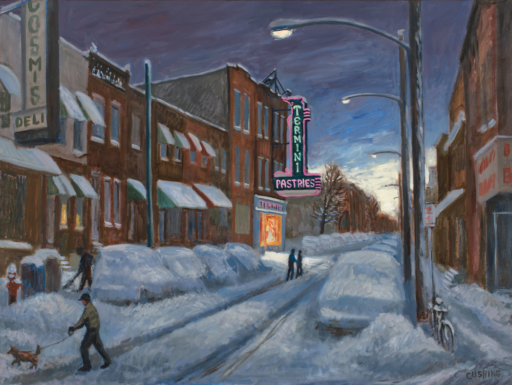 """After the Blizzard, Termini's Bakery""  30 x 36"" (sold)"