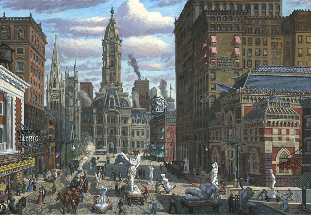 """North Broad Street, Circa 1905"" 66 x 96""  $25,000.00"