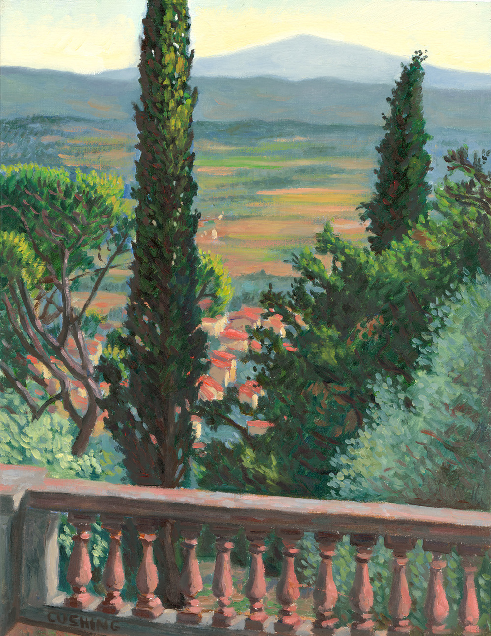 """View of Camucia From Cortona""  22 x 17"" (sold)"