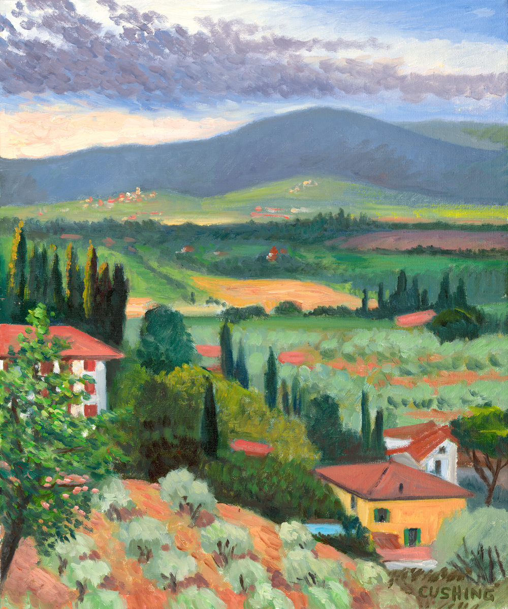 """""""View From Lucignano""""  18 x 15"""" (sold)"""