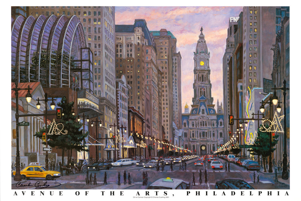 """Avenue of the Arts, Philadelphia""  24 x 36""  $50.00"