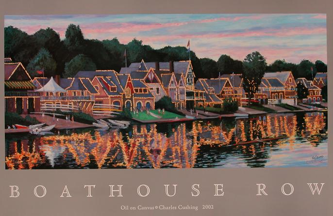 """Boathouse Row""  24 x 36""  $50.00"