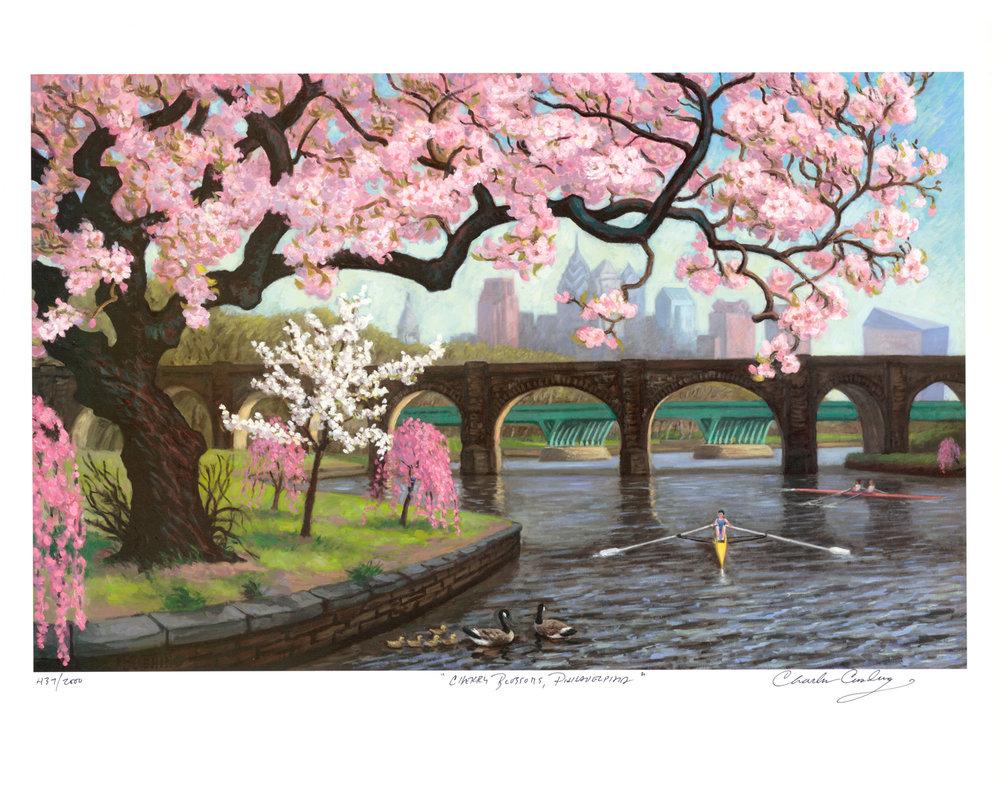 """Cherry Blossoms, Philadelphia""  24 x 30""  $50.00"