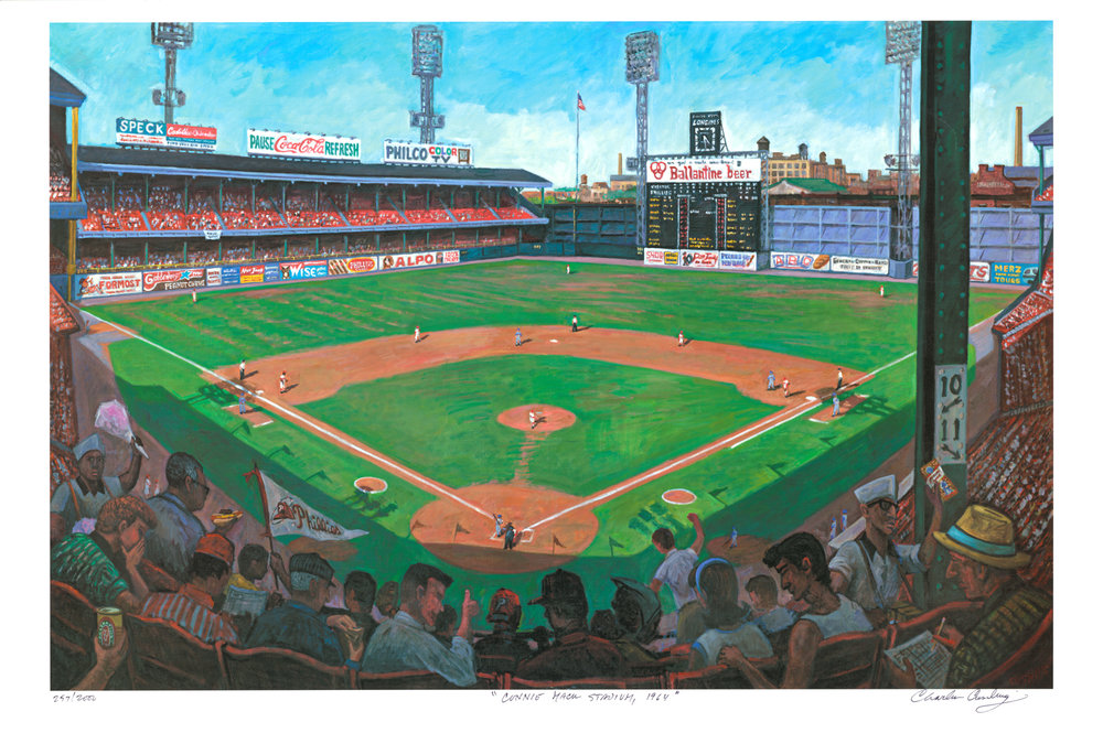 """Connie Mack Stadium, 1964""  24 x 36""  $50.00"