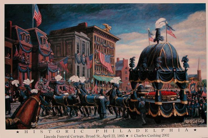 "Historic Philadelphia: Lincoln Funeral Cortege""  24 x 36""  $30.00"