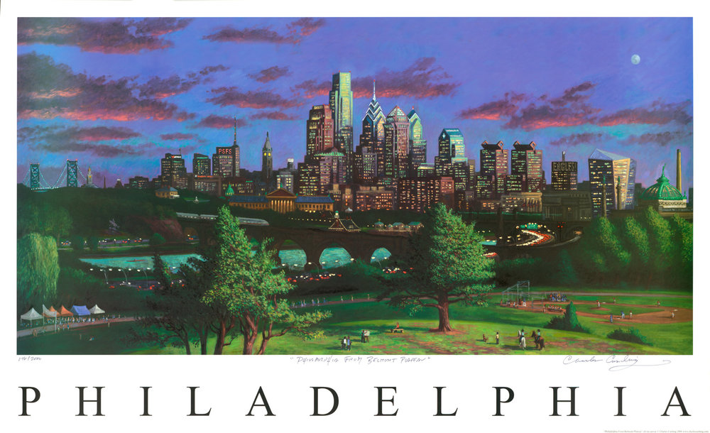 """Philadelphia From Belmont Plateau"" 24 x 40"" $50.00"
