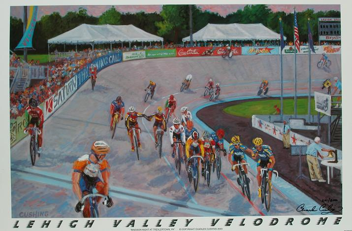 """Lehigh Valley Velodrome"" 24 x 36"" $30.00"
