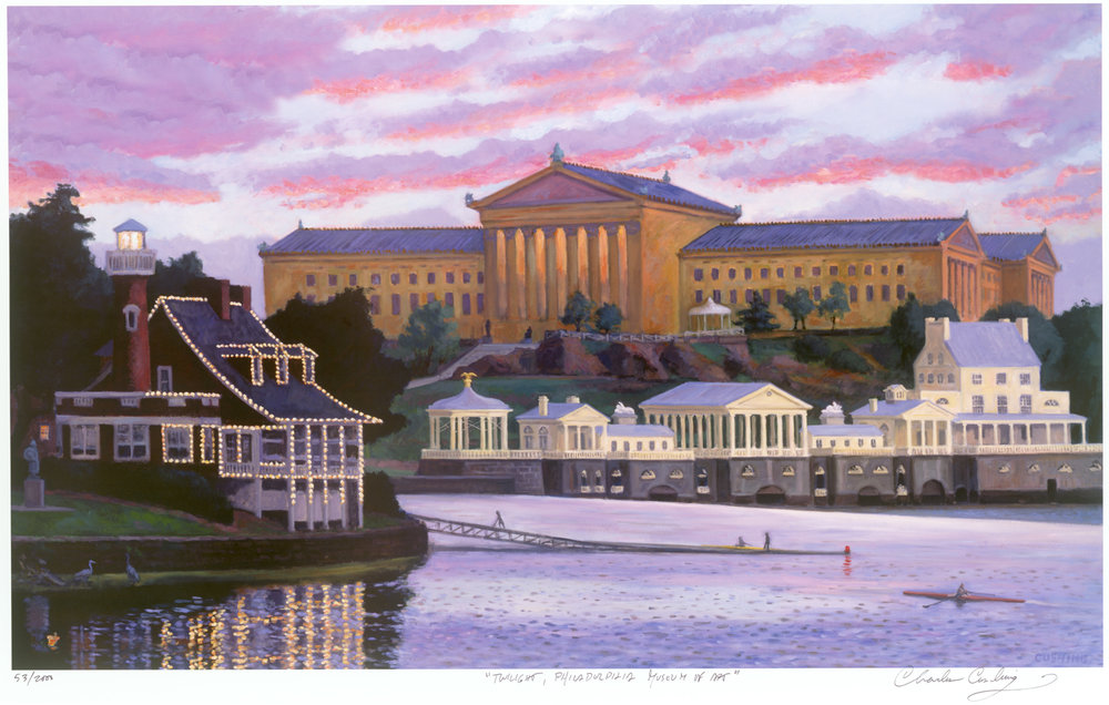 """Twilight, Philadelphia Museum of Art""  24 x 36""  $50.00"