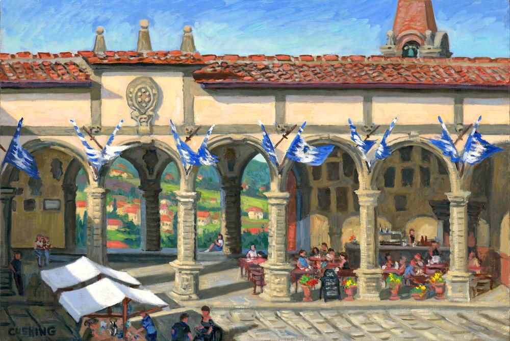 """""""Vasari's Loggia, Castiglion di Fiorentino""""  21 x 31""""  $2500.00"""