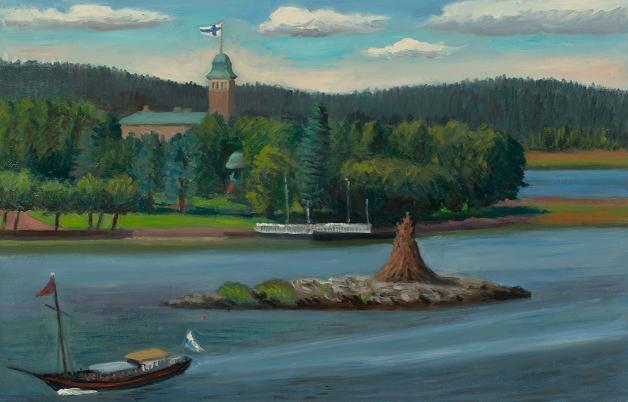 """President's Summer Palace, Nantalie, Finland""   17 x 27""  $"