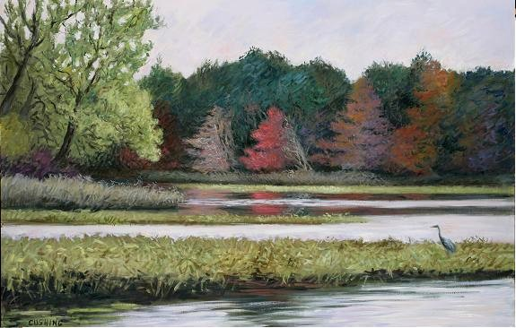 """Fall Symphony, Tinicum Marsh""  32 x 52""  (sold)"