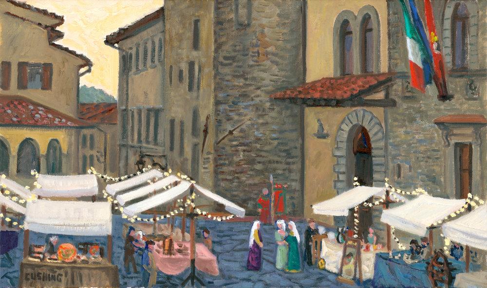 """Street Fair in Arezzo""  14 x 24""  $1750.00"