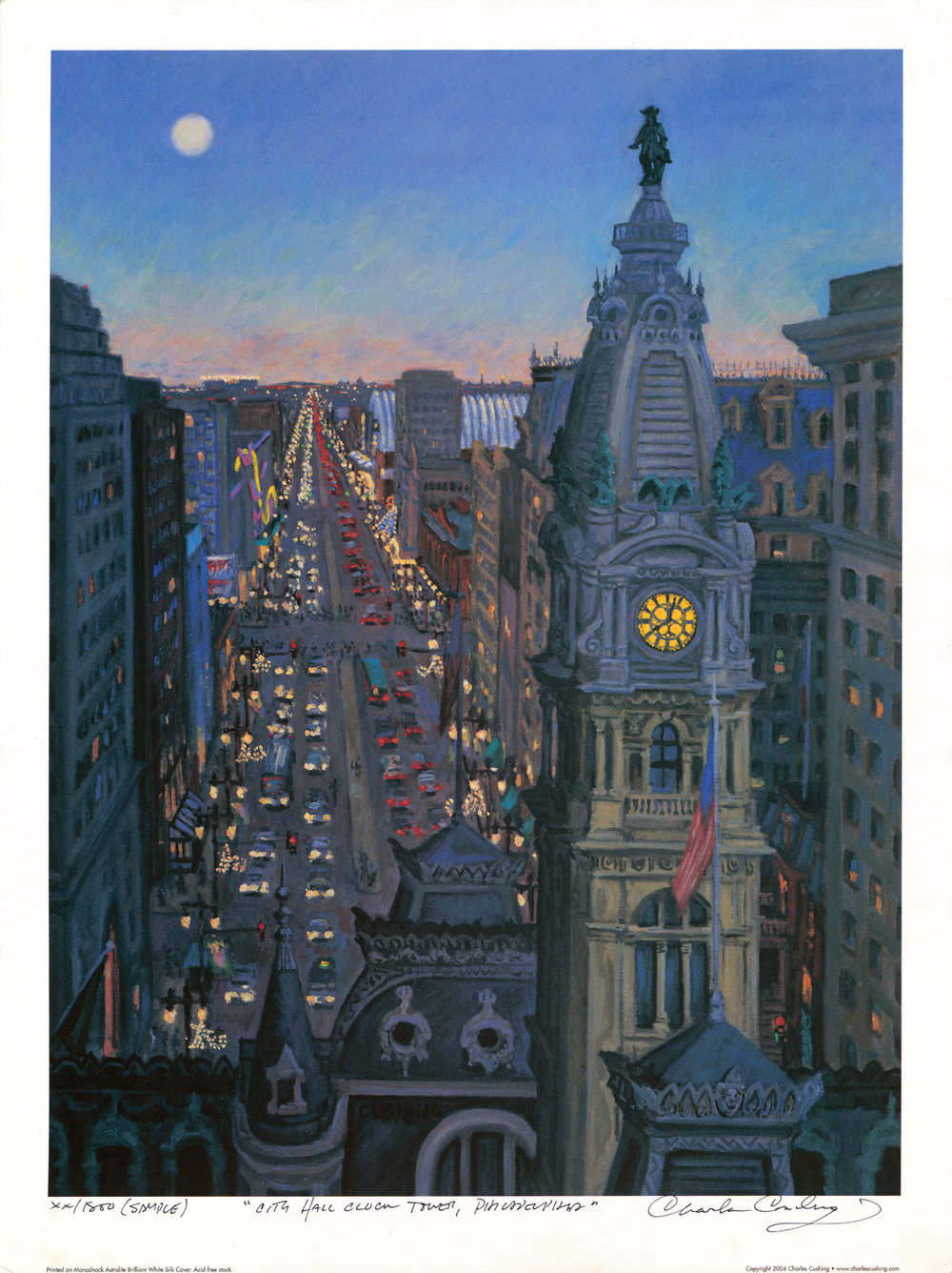 """City Hall Clock Tower""  24 x 18""  $30.00"