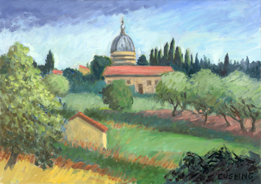"""View of Pozzo di Chiana""  18 x 24""  (sold)"