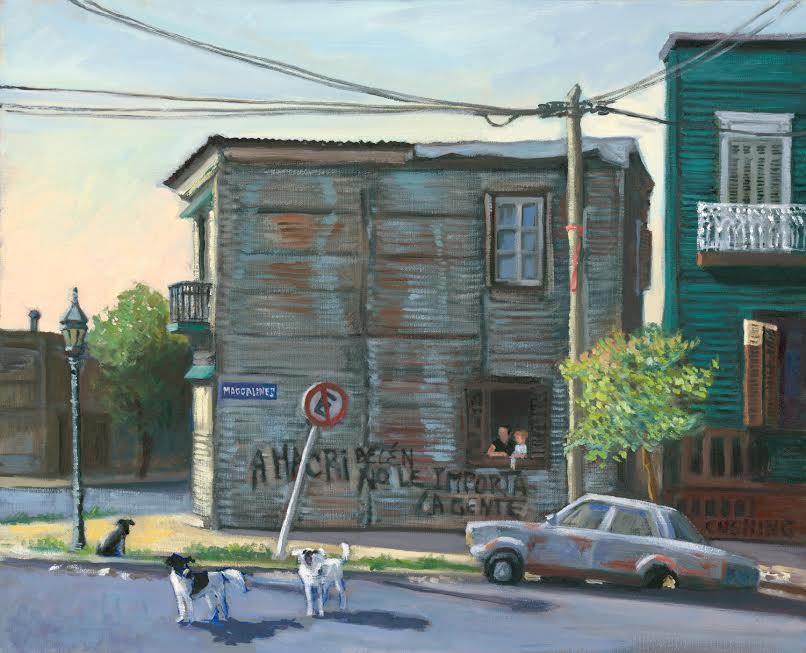 """Calle Magallanes, La Boca""  18 x 22"". (sold)"