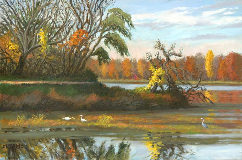 """Autumn, Tinicum Marsh""  26 x 38""  (sold)"