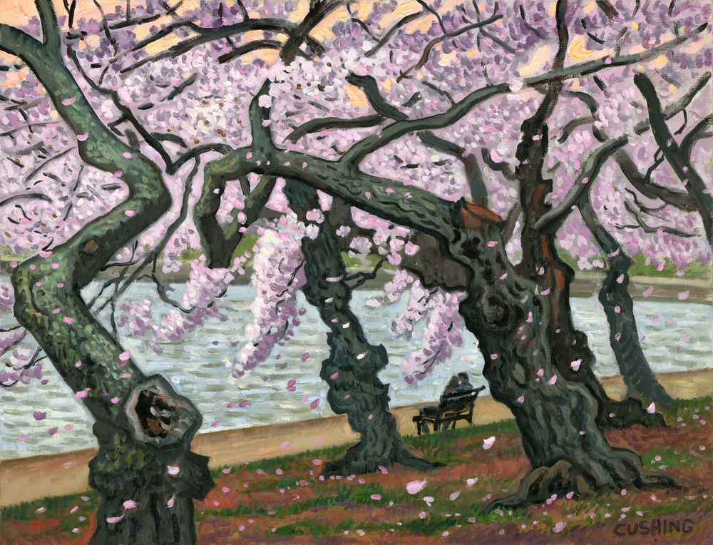 """Twilight, Cherry Blossoms, Washington, D.C.""  22 x 34""  (sold)"