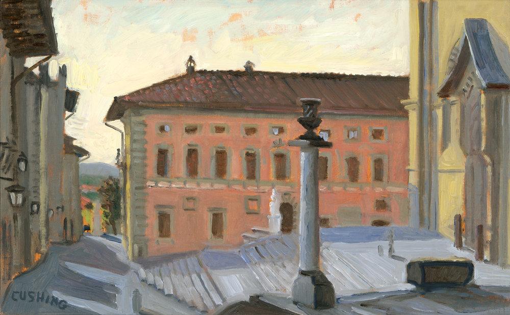 """Piazza with San Donato, Arezzo""""  13 x 21""""  $750.00"""