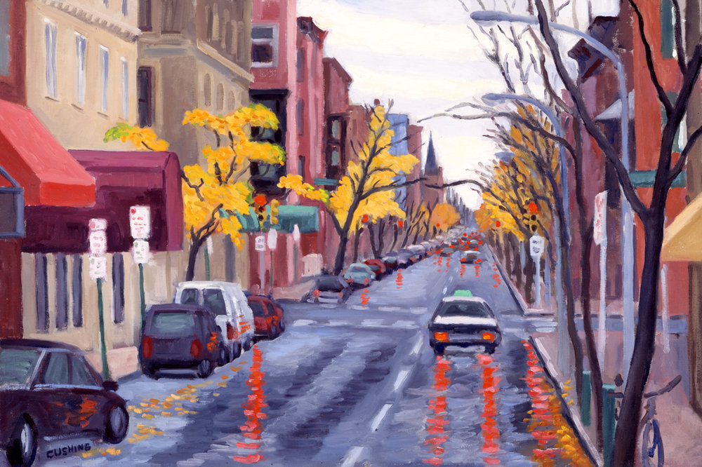 """19th and Spruce Streets""  16 x 24"". (sold)"