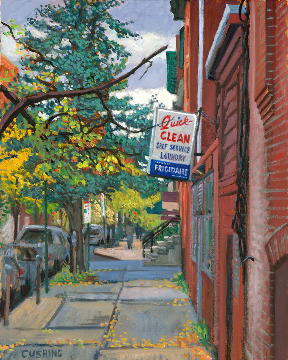 """Quick-Clean, 10th and Spruce Streets, Philadelphia""  30 x 24""  $3,000.00"