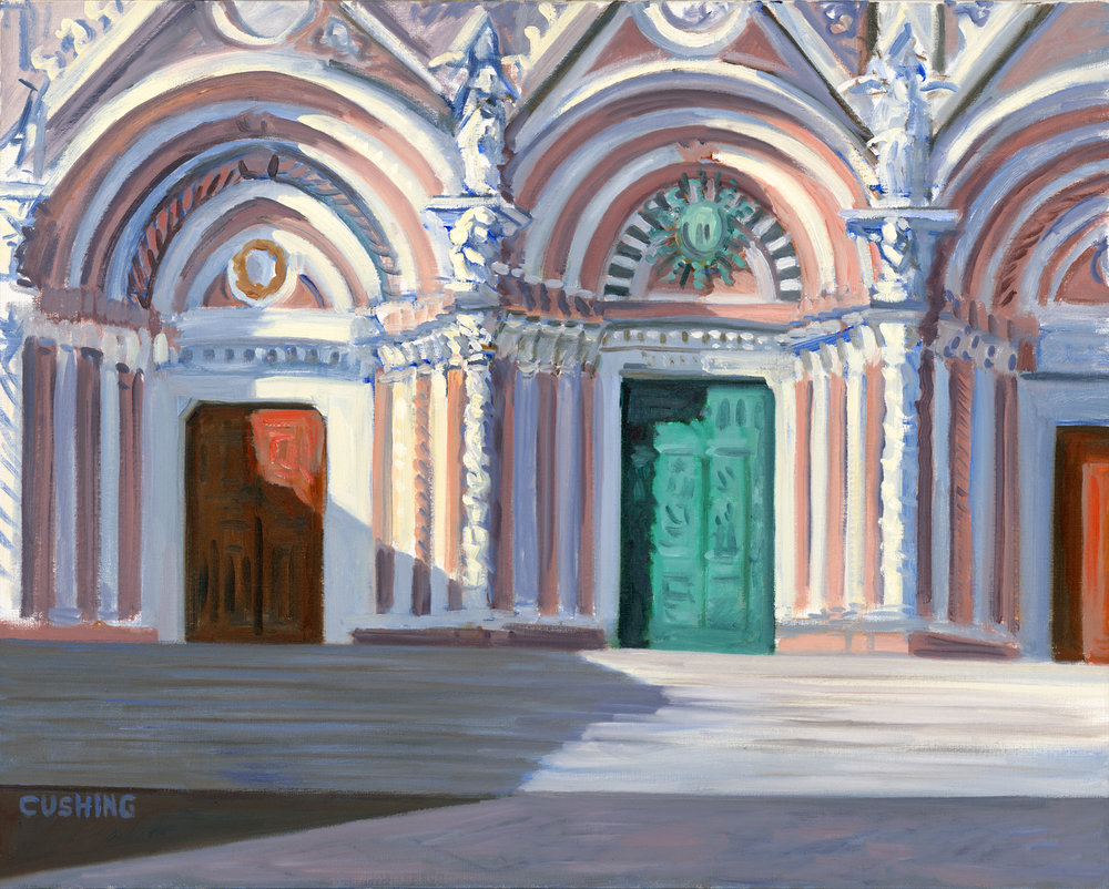 """Cathedral Facade, Siena, Italy""  24 x 30""  (sold)"