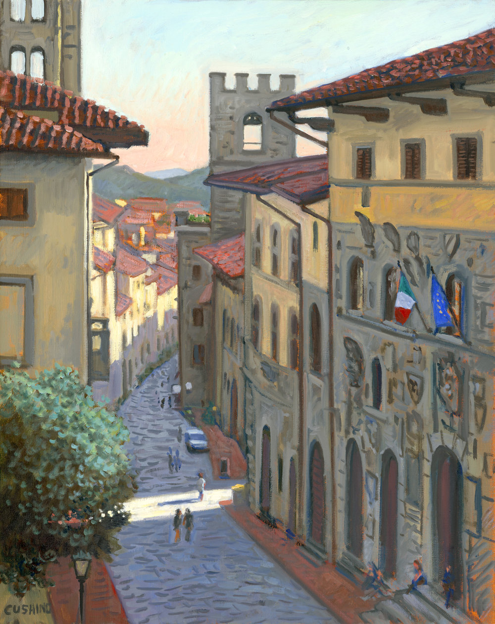 """Shaft of Light, Arezzo, Italy""   30 x 24"" . $3,000.00"