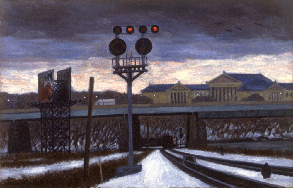 """Winter Tracks, Art Museum""  32 x 50""  (sold)"