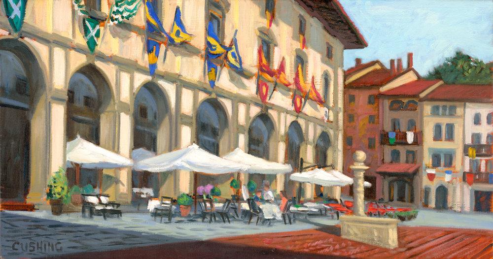 """""""Vasari's Loggia, Piazza Grande, Arezzo""""  14 x 27""""  $2250.00"""