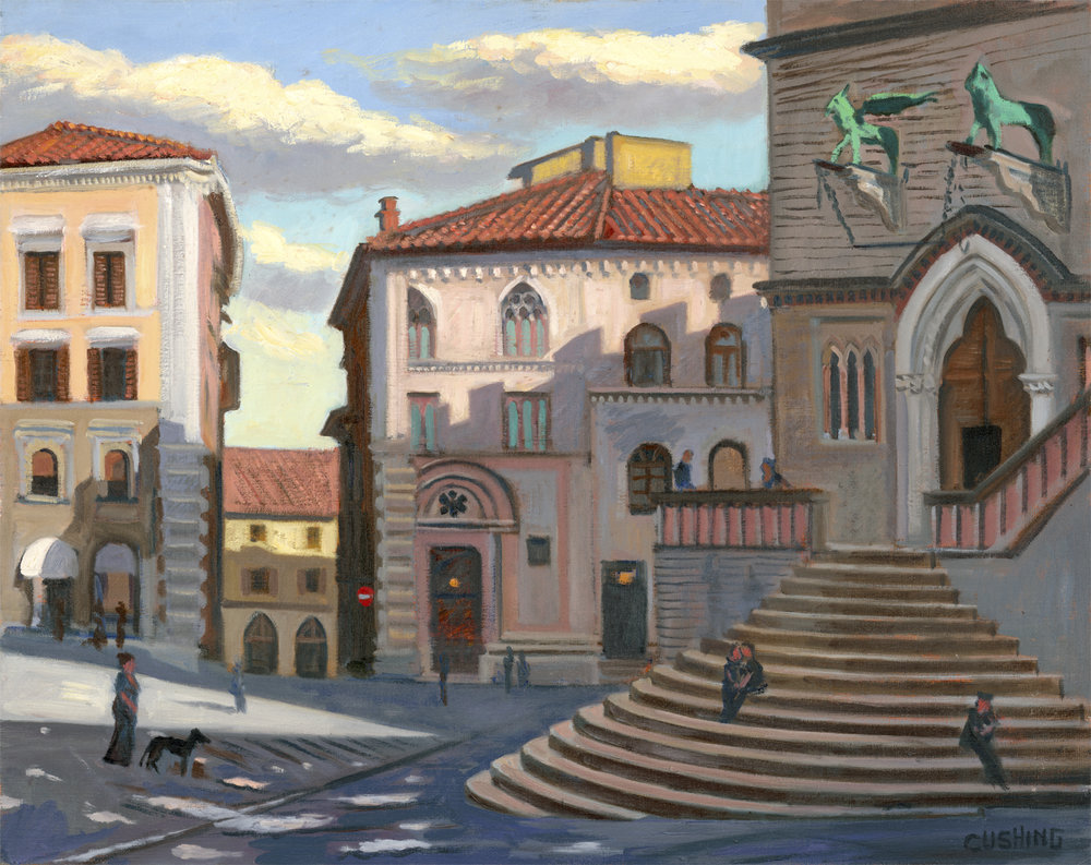"""After the Rain, Piazza IV novembre, Perugia""  24 x 30""  $3,000.00"