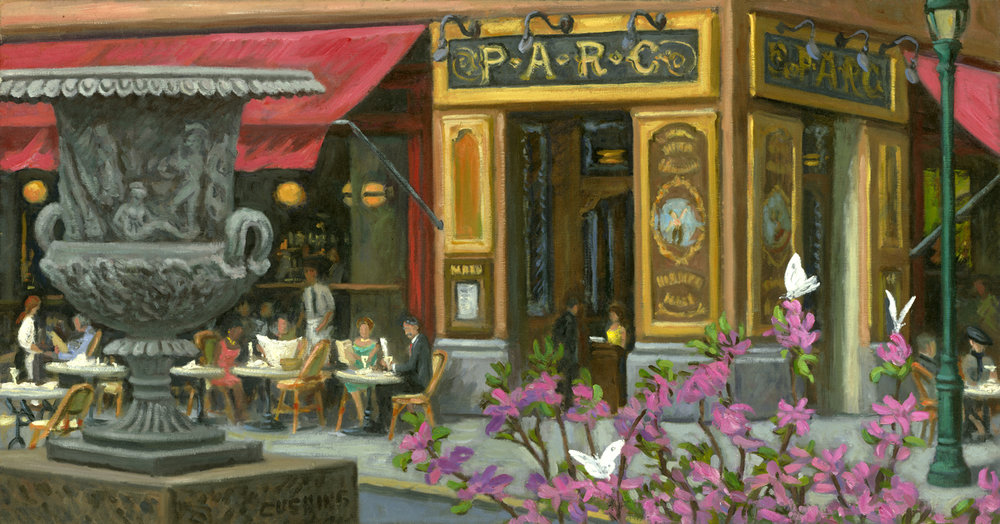 """Urn and PARC Restaurant"" 19 x 36""  (sold)"