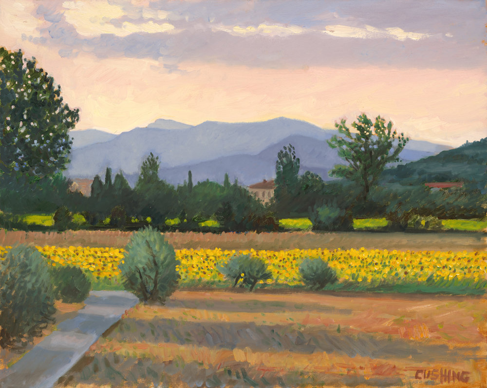"""Sunflower Field, Vitiano, Italy""  24 x 30""  (sold)"