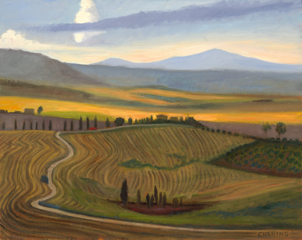 """The Val d'Orchia Near Pienza""  24 x 30""  $3500.00"