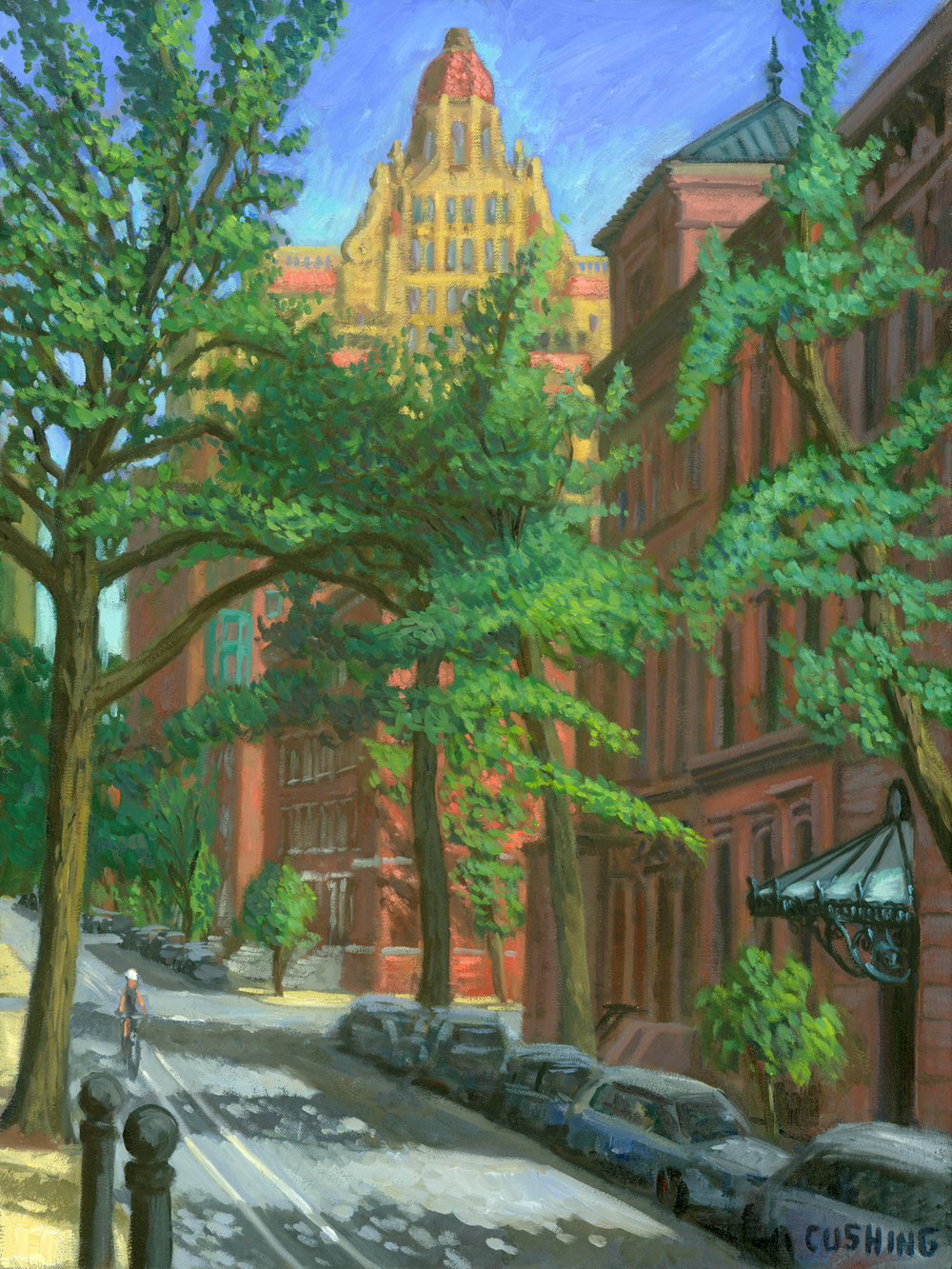 """The Drake from Spruce Street""  24 x 18""  (sold)"