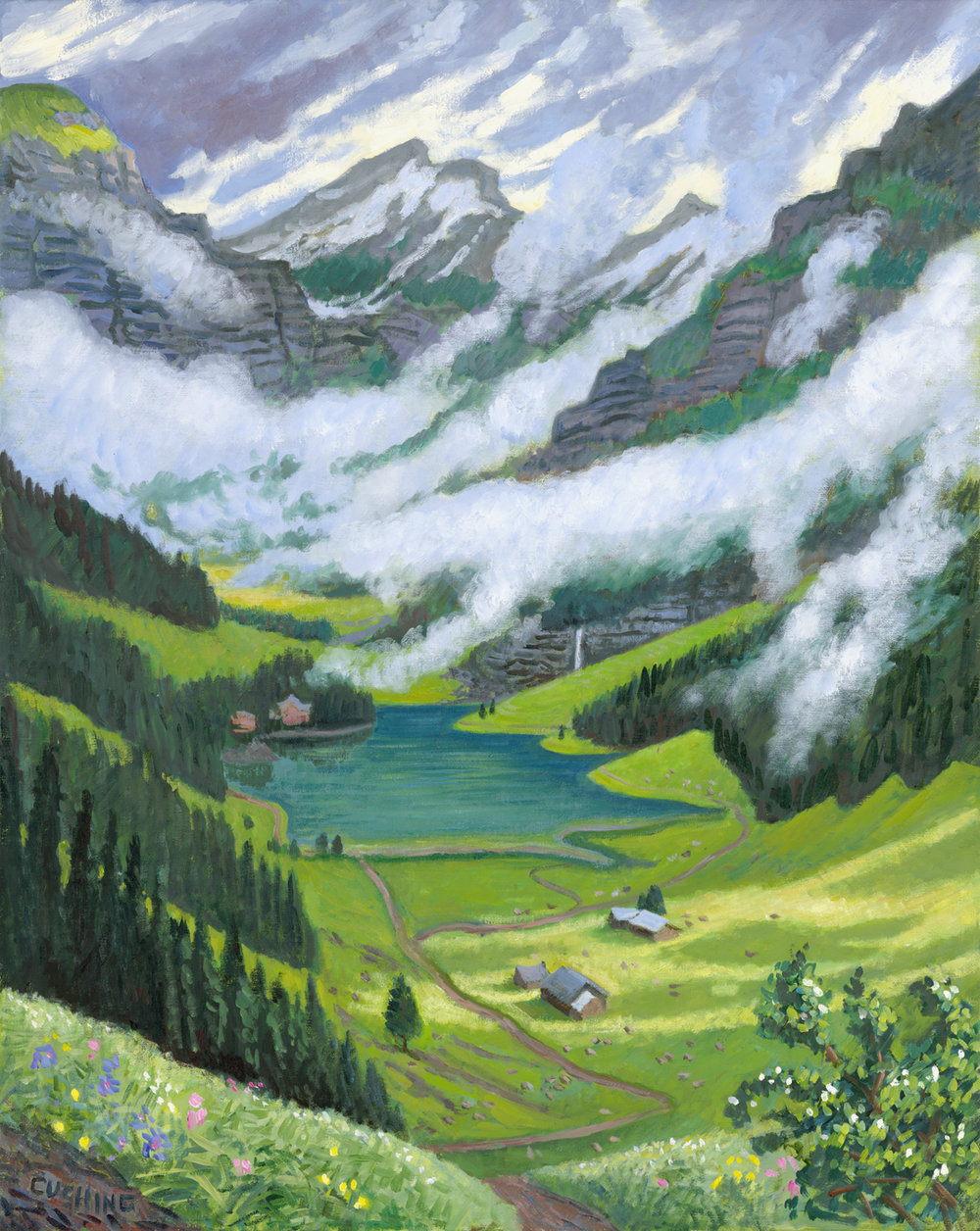 """In the Alps""   30 x 24""  (sold)"