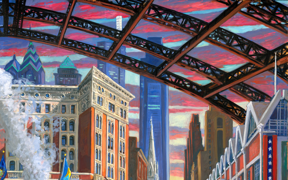 """Detail of """"The Pennsylvania Convention Center"""""""