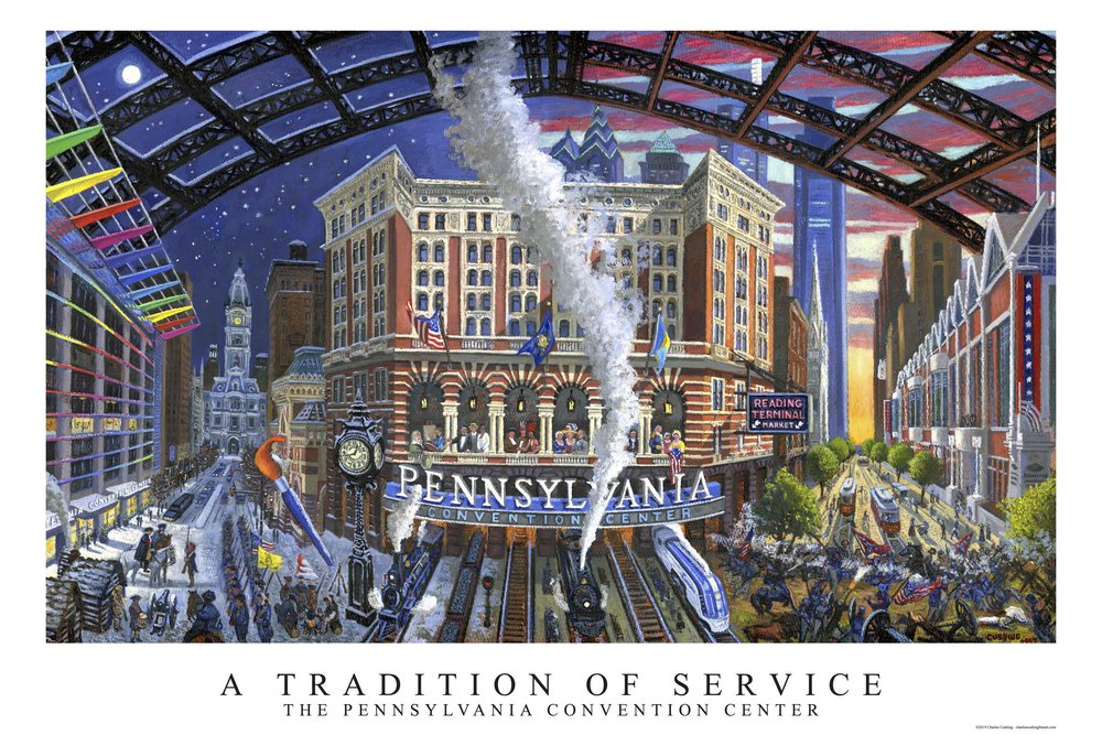 """A Tradition of Service: The Pennsylvania Convention Center""  24 x 36""  $50.00"