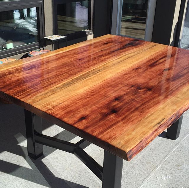 """Every once and a while I take on a custom project, there were some challenges but I am very happy with the results. This is a 60""""x70"""" Giant Sequoia patio table, I salvaged this log last year from Langley BC. Big shout out to @mojodesigninc @beyondwood @majesticworksofficial  for all your help #liveedge #liveedgetable #giantsiquoia #mothertree #earthenergy #woodart #liveyourpassion #respectthetrees"""
