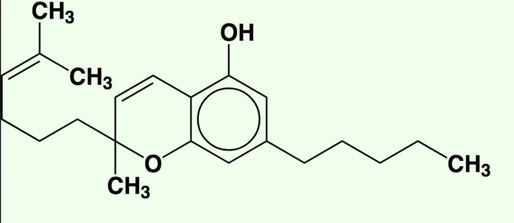 A molecule of cannabichromene (CBC) (Wikimedia Commons)