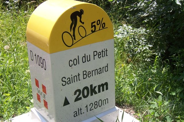 This is an example of a kilometre stone on the Col du Petit Saint Bernard which is situated in Rhone-Alpes. Starting from Morgex, the Col du Petit Saint Bernard ascent is 27.6 km long.