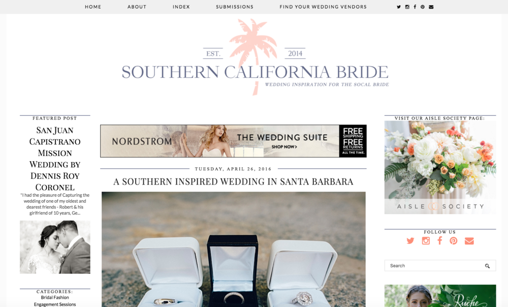 Magnolia Event Design Featured on Southern California Bride