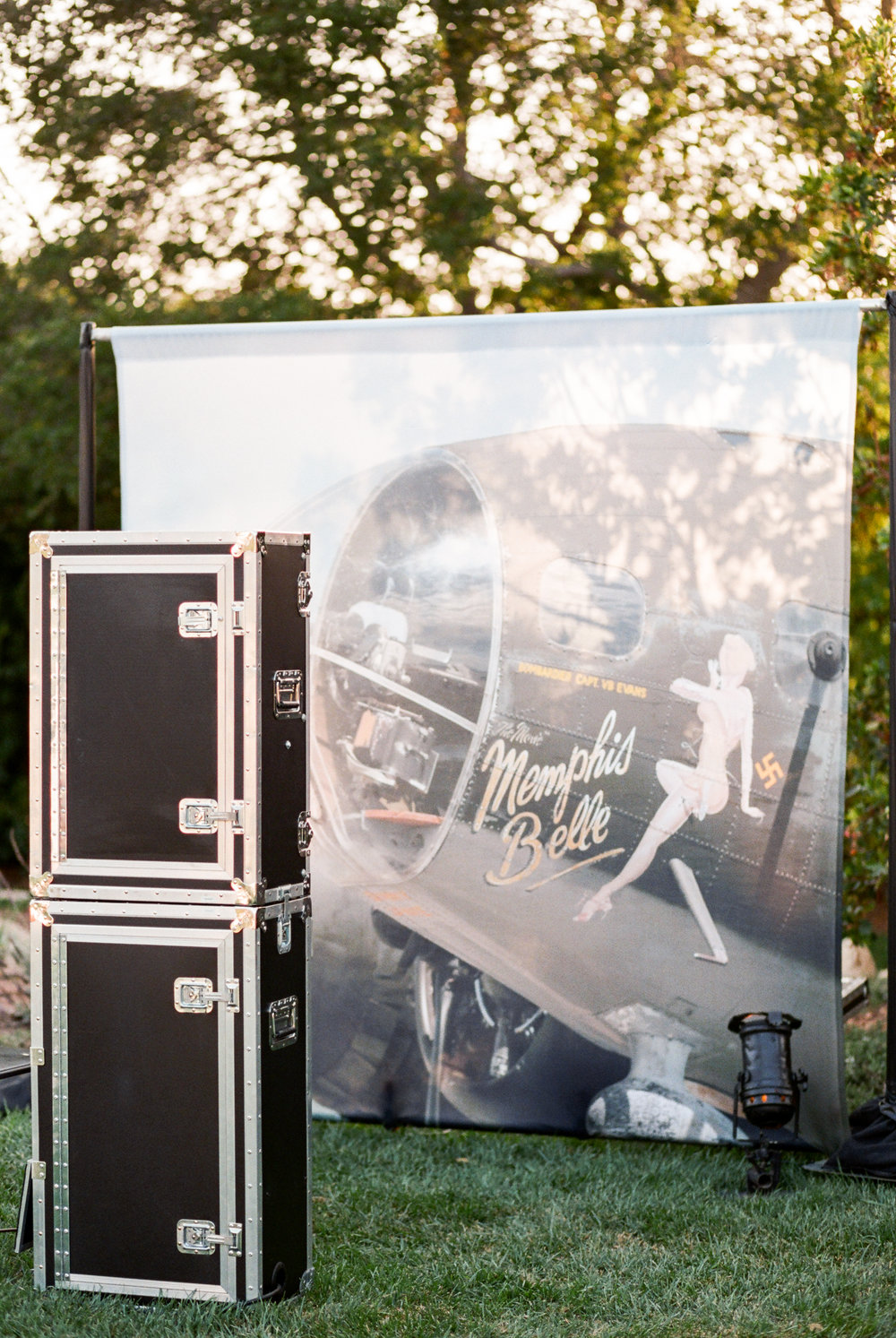 Melissa Musgrove Photography // Custom Photo Booth Backdrop //  1940's Birthday Party